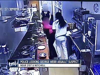 Nigger punches female restaurant worker