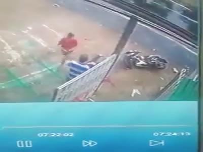 Biker killed by bus