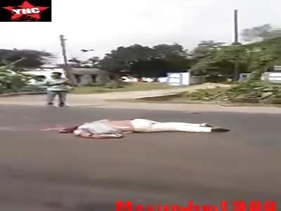 Dead biker killed by truck