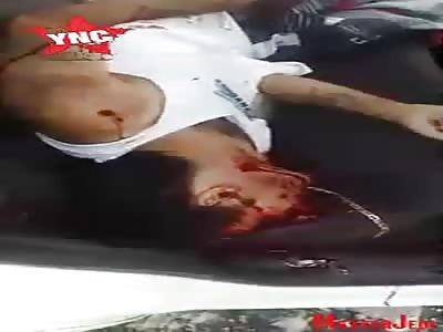 Killed inside car