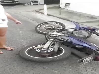 Dead bike rider