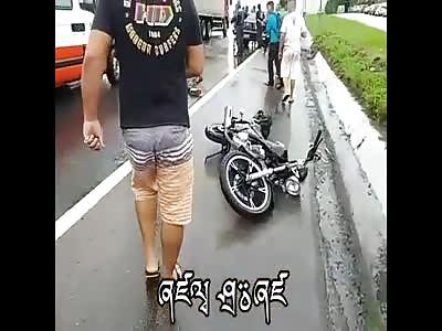 Biker killed in accident