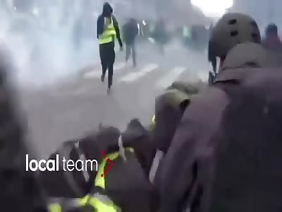 Paris flashball headshot
