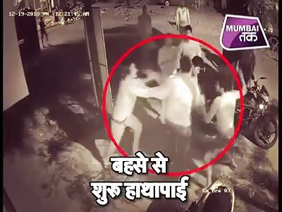 Fight caught in CCTV in Kalyan