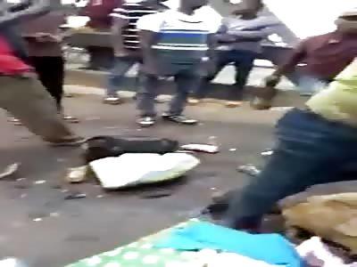 Fatal car accident just happened at head bridge Onitsha Nigeria