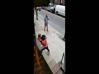 Road rage incident escalates into street brawl