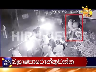 Fatal conflict of men in Sri Lanka