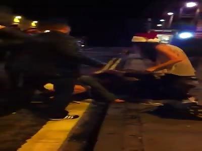 Scottish Girls Street Fight