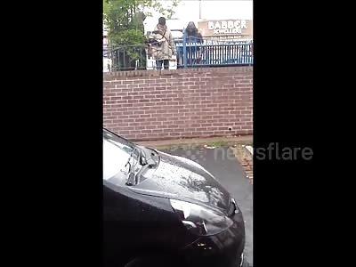 Crazy Street Fight in Birmingham