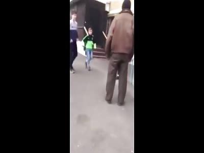 Russian Teens Beat Homeless Man for Fun