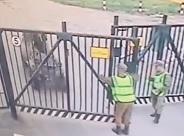 ATV Slams into Gate Killing Guard