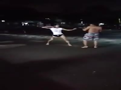 FAGGOT FIGHT WITH MAN