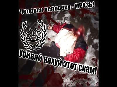 HOMELESS BEATEN BY CRAZY RUSSIANS