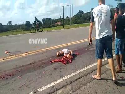 Road Accident Leaves Man Shredded