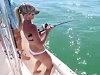 G-String Thong Bikini Blonde Reels In A Big Shark