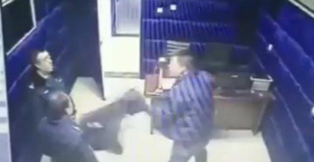 TERMINATOR: One Suspect Beats Up Three Cops In Interrogation Room
