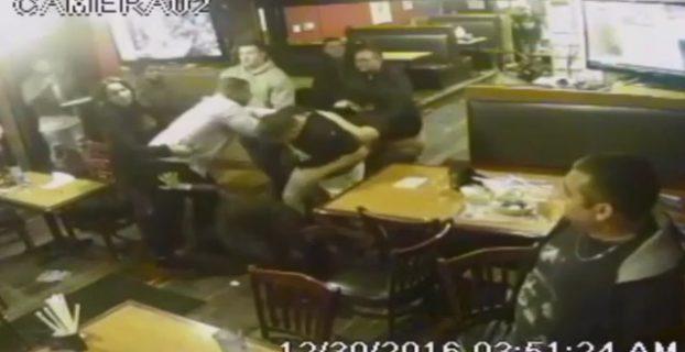 Mass Brawl Erupts Between Customers And Restaurant Staff