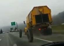 Truck Loses Wheels, Crashes into Car Killing Driver