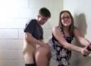 Young Teen Fucks his Nympho Teacher in the Guys Locker Room Shower