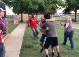 Two Fathers Savagely Brawl at Kids Baseball Game