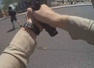 Las Vegas Cop Shoots Guy Who Stabbed 2 Women.