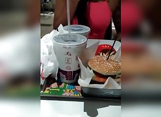 Girl Masturbates with Fries...WTF