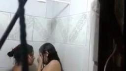 Lesbian Bathroom Voyeur