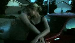 Lesbian Teen Girl Cracks Head on Pavement