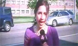 Reporter provokes accident