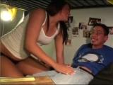 Nerdy guy looses virginity in college
