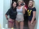 Three college girls take a dare