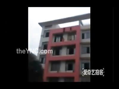 2 Women Dangling both Fall from Building