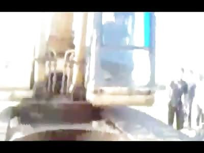 DAMN: Horrible Man Crushed by Excavator