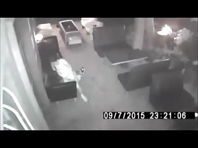 Couple Fucks Right in Restaurant .. Caught on CCTV