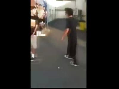 KARMA: Bully Takes Aluminum Bat to the Head ...Instantly KO'd Unconscious