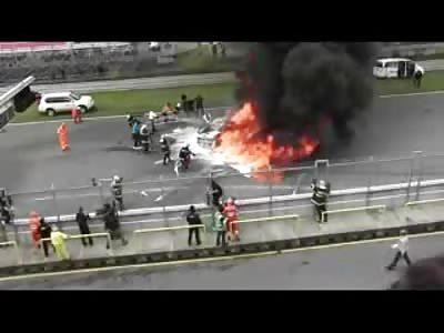 Lamborghini Gallardo LP 560 high speed Crash and Fireball..