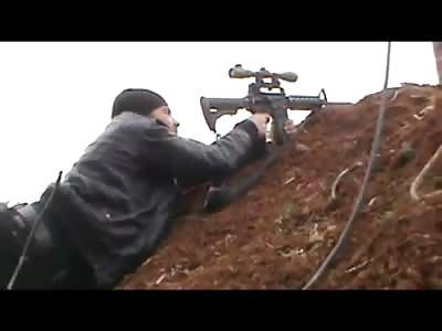 Syrian Sniper gets Sniped
