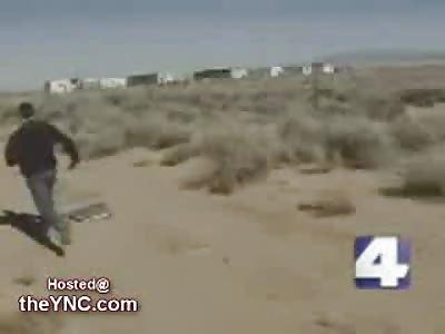Maniac caught Dumping Garbage attacks News Camera Crew
