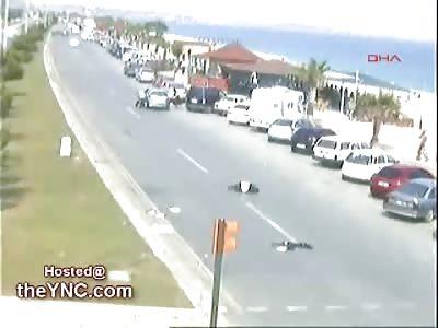 CCTV captures Elderly Man Fatally Struck by a Car