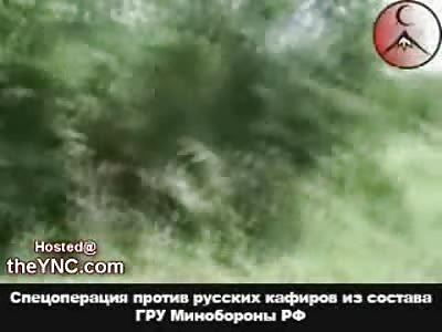 Chechen Mujahideen RPG Ambush on a Russian Convoy