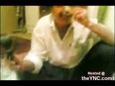Father Makes his 5 Year Old Kid Smoke Opium Like Taking Flinstone Vitamines