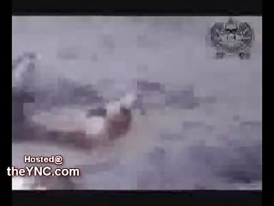 Taliban Ambush Footage shows Firing Bullets into Burning Bodies