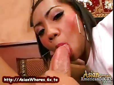 Perfect Asian Teen Sucking Huge Cock