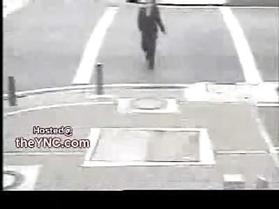 Turning Bus Runs Over Oblivious Schoolgirl Listening to her IPod