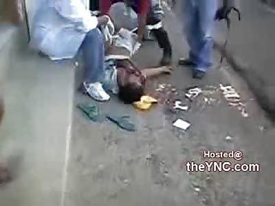 Man Murdered Lying Dead on the Street is Frisked