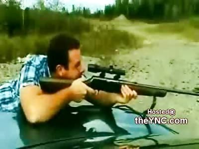 Tough Guy Gun Shooter Breaks His Eye Socket on Unexpected Recoil