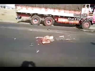 Well...A Dump Truck Ran them Over