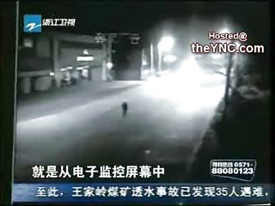 Stumbling Drunken Man is Killed by Swerving Drunk Driver