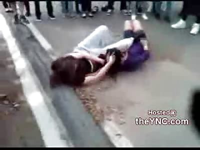 Crazy Bitch Unleashes Fury on Girl Head