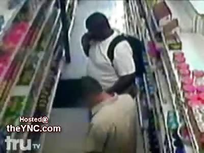 Lawless Fat Thug Beats Innocent Store Clerk to Near Death...